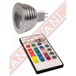 Mantovani Spa - LAMPADINE LED RGB GU5.3 CON TELECOMANDO
