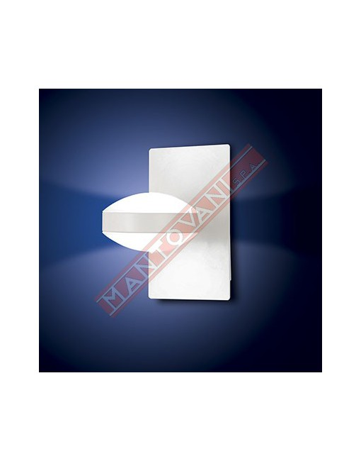 Fabas Mill applique in metallo bianco l.10 h.17 p.17.5 con luce led 16w 1400lm 3000k