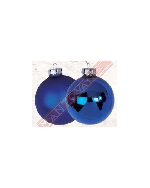 Albero Di Natale Diametro 60.Mantovani Spa Palline Per Albero Di Natale In Vetro Blu Lucido Opaco Diametro 60 Mm