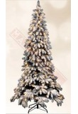 ALBERO DI NATALE ORTISEI LED CM 150 635 RAMI OMBRELLO IN PVC INNEVATI E 150 LED INCORPORATI,CON BASE IN METALLO d86