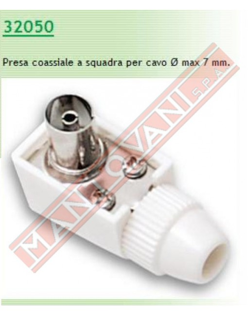 Fme presa coassiale squadra diametro 9.5 mm