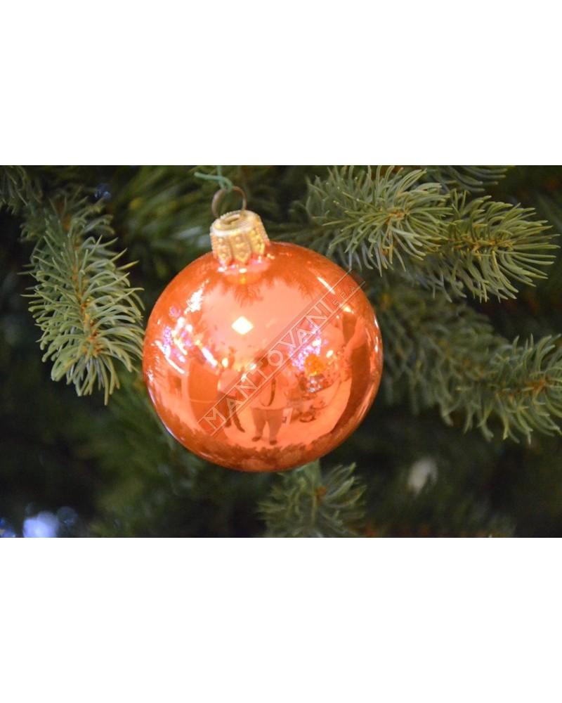 Albero Di Natale Diametro 60.Mantovani Spa Pallina Vetro Arancio Lucido Diametro 60 Mm Per Albero Di Natale