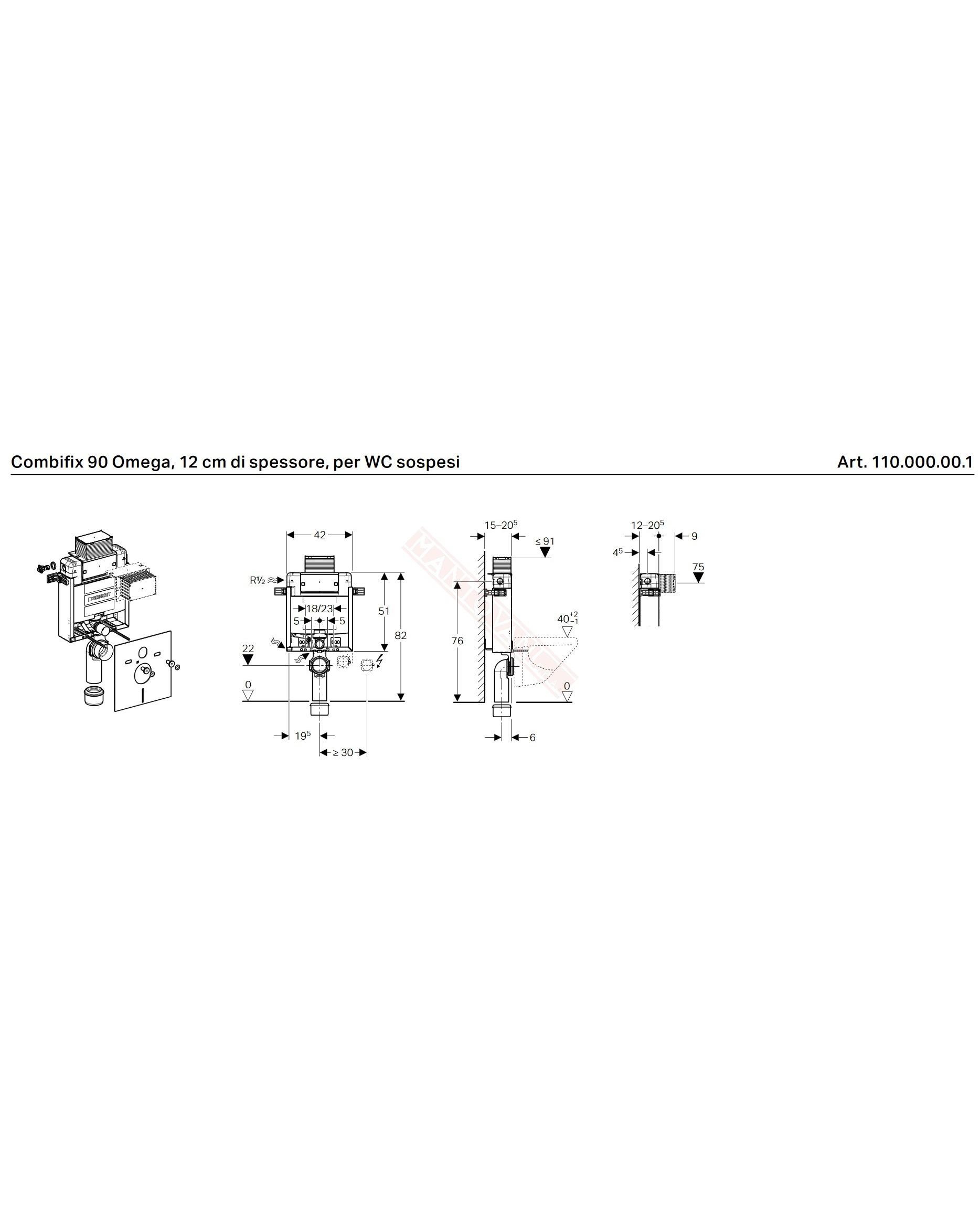 Altezza Placca Wc geberit combifix 90 per wc sospeso 110 placca frontale o piana si davanzale  altezza 82 sottofinestra