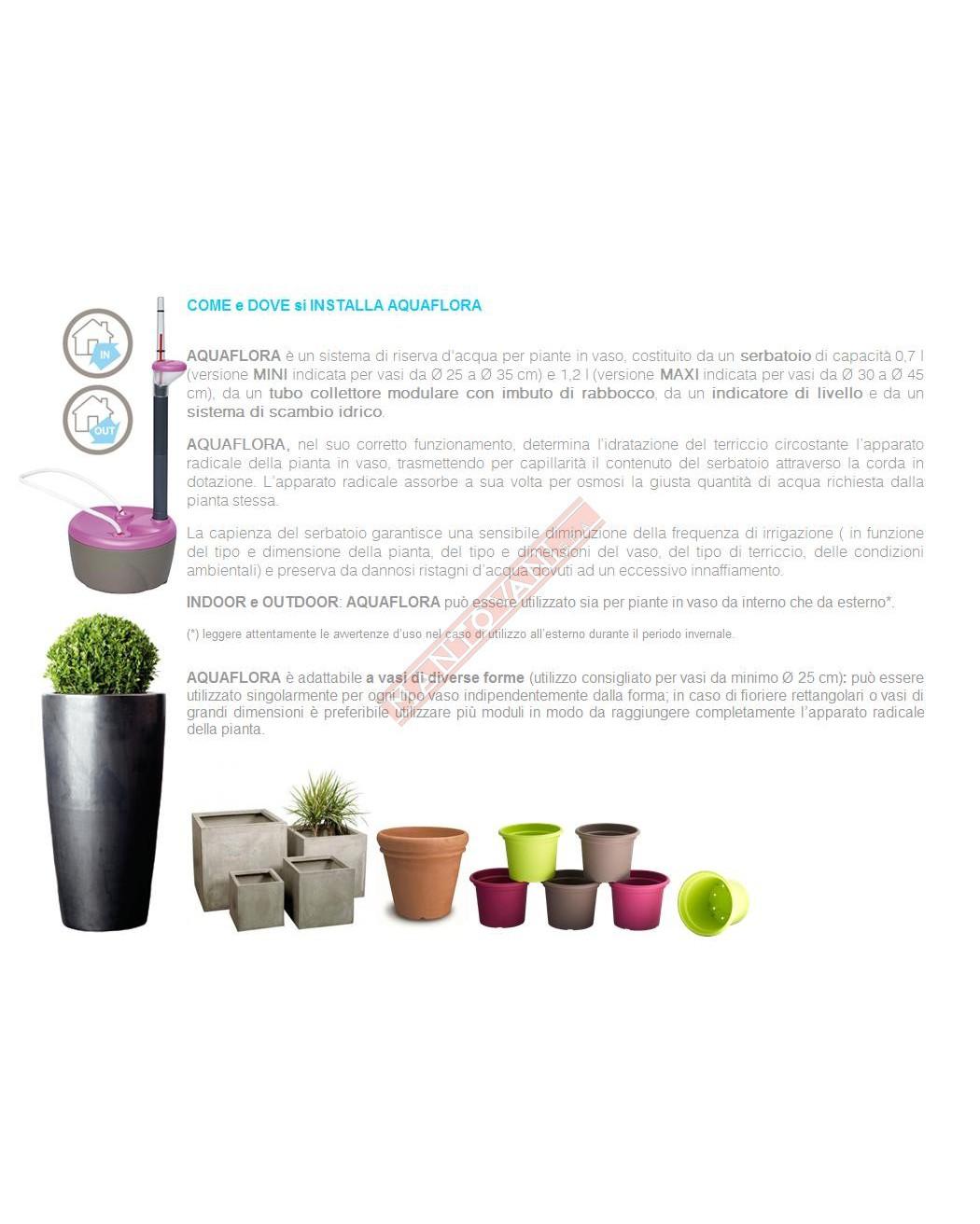 Terriccio Non Assorbe Acqua aquaflora mini sistema di irrigazione supplementare