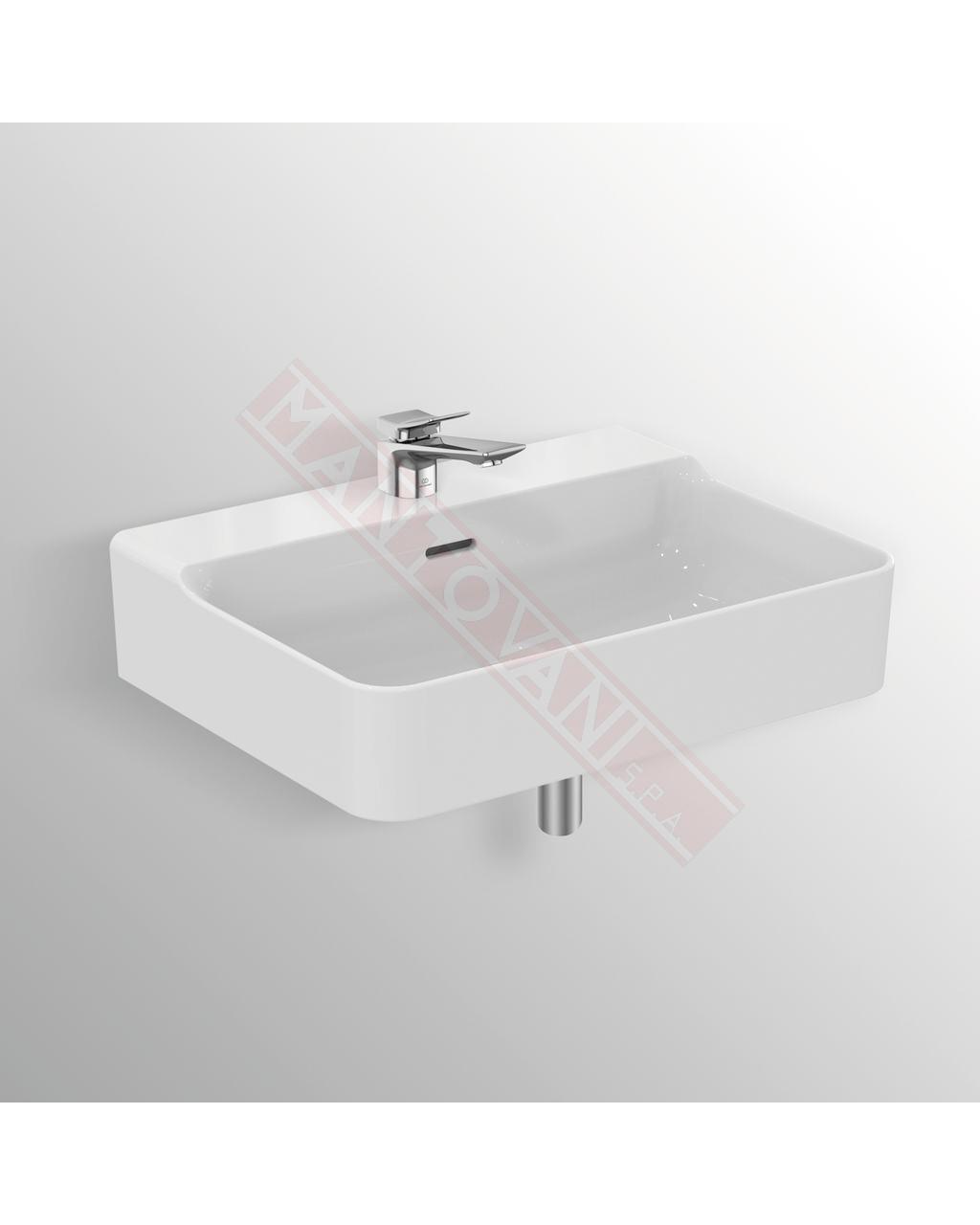 Mantovani Spa Ideal Standard Conca Lavabo Bagno Da Parete 60x45 Cm Con Troppopieno E
