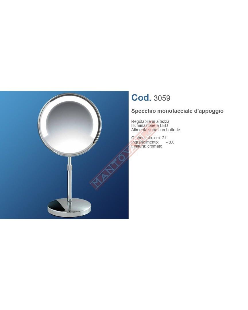 Mantovani spa specchio ingranditore 3x diam 21 cm da for Specchio da tavolo con luce ikea