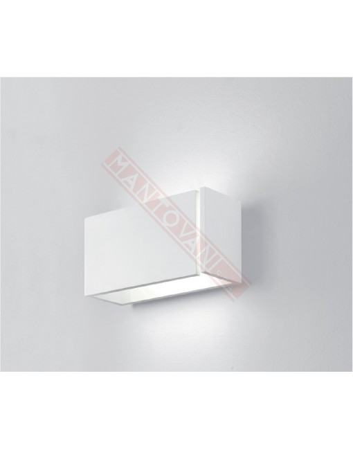8mm ICONE LUCE APPLIQUE A PARETE CM 20,5 BIANCA A LED DA 13.5W 3000K 1100LM