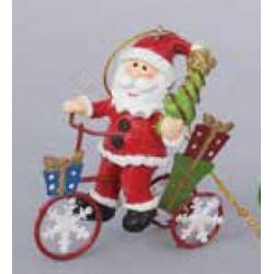 Babbo Natale In Bicicletta.Mantovani Spa Addobbo Natalizio Babbo Natale Su Bicicletta Rossa E