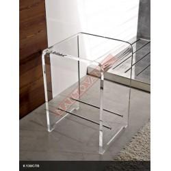 Mantovani spa tl bath sgabello plexiglass trasparente for Sgabello plexiglass doccia